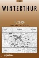 Swisstopo 1 : 25 000 Winterthur: Pfungen-Wiesendangen-Turbenthal
