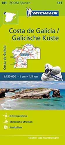 Michelin Costa de Galicia, Galicische Küste: Straßen- und Tourismuskarte 1:150.000 (MICHELIN Zoomkarten)