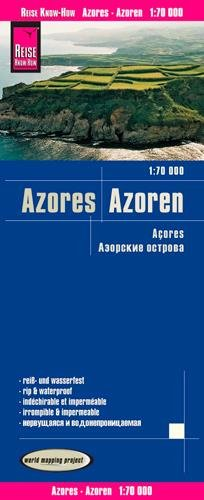 Reise Know-How Landkarte Azoren (1:70.000): world mapping project