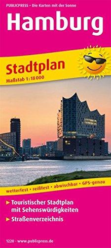 Hamburg: Touristischer Stadtplan mit Sehenswürdigkeiten und Straßenverzeichnis. 1:18000 (Stadtplan / SP)