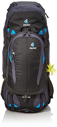 Deuter Damen Rucksack Quantum 60 plus 10 SL Wanderrucksack, Black-Turquoise, 80 x 30 x 23 cm, 60 L