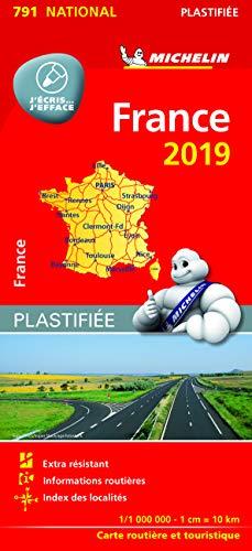 Michelin Frankreich 2019 (plastifiziert): Straßen- und Tourismuskarte 1:1.000.000 (MICHELIN Nationalkarten)