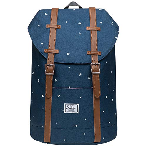 KAUKKO Rucksack Vintage Reiserucksack für 12' Notebook Lässiger Daypacks Schultaschen, 36 * 24 * 14cm/ 12L