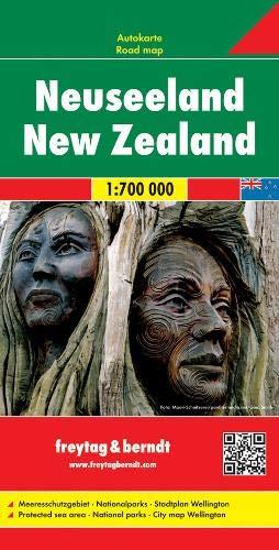 Neuseeland, Autokarte 1:700.000: Wegenkaart 1:700 000 / 1:15 000 (freytag & berndt Auto + Freizeitkarten)