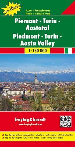 Piemont - Turin - Aostatal, Autokarte 1:150.000, Top 10 Tips: Toeristische wegenkaart 1:150 000 (freytag & berndt Auto + Freizeitkarten)