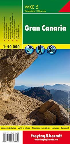 Gran Canaria, Wanderkarte 1:50.000, WKE 5: wandelkaarten 1:50 000 (freytag & berndt Wander-Rad-Freizeitkarten)