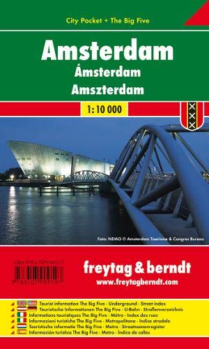 Amsterdam, Stadtplan 1:10.000, City Pocket + The Big Five: Stadskaart 1:10 000 (freytag & berndt Stadtpläne)