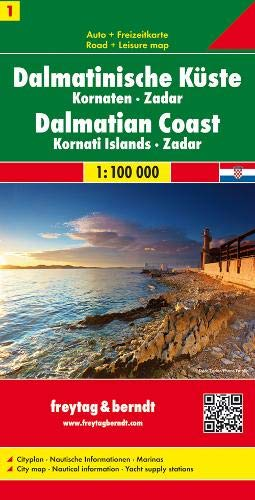 Dalmatinische Küste - Kornaten - Zadar, Autokarte 1:100.000, Blatt 1, freytag & berndt Auto + Freizeitkarten