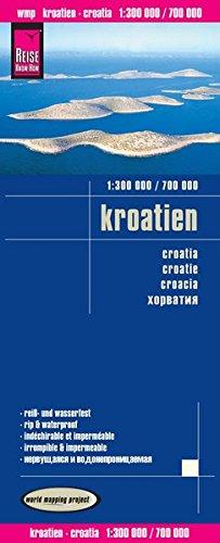 Reise Know-How Landkarte Kroatien (1:300.000 / 700.000): world mapping project