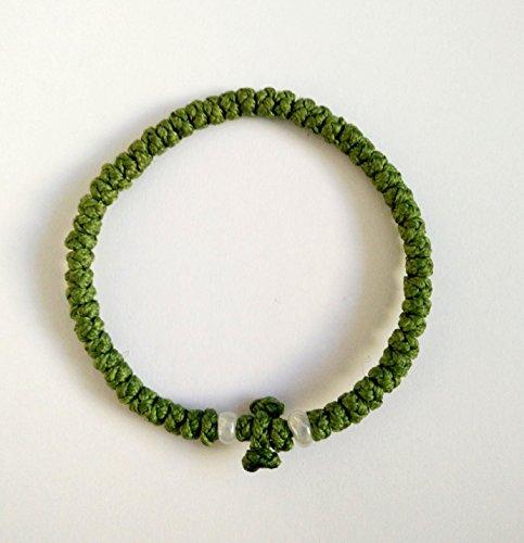 Handgefertigt Christian-orthodoxe griechisch chotki komboskoini Gebet Seil, dünn, grün