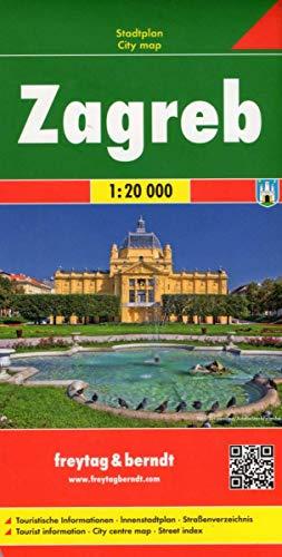 Zagreb, Stadtplan 1:20.000: Stadskaart 1:15 000 (freytag & berndt Stadtpläne)