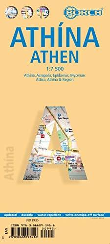 Athen ( Atthina / Athens ) 1 : 7 500 (Borch Maps)
