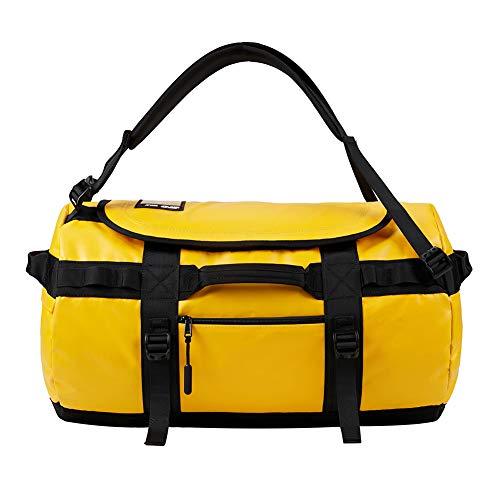 KALIDI Reisetasche Transporttasche Duffle Bag Rucksack wasserfeste Sporttasche 50L,Gelb