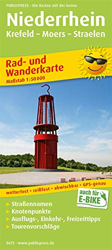 Niederrhein, Krefeld - Moers - Straelen: Rad- und Wanderkarte mit Ausflugszielen, Einkehr- & Freizeittipps, wetterfest, reißfest, abwischbar, GPS-genau. 1:50000 (Rad- und Wanderkarte / RuWK)