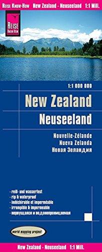 Reise Know-How Landkarte Neuseeland / New Zealand (1:1.000.000): world mapping project: Exakte Höhenlinien. Höhenschichten-Relief. GPS-tauglich durch ... Straßennetz. Ausführlicher Ortsindex