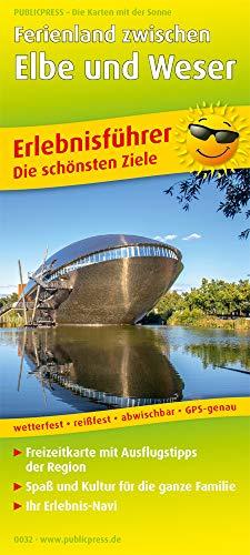 Ferienland zwischen Elbe und Weser: Erlebnisführer mit Informationen zu Freizeiteinrichtungen auf der Kartenrückseite, wetter- und reißfest, abwischbar, GPS-genau. 1:160000 (Erlebnisführer / EF)