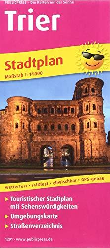 Trier: Touristischer Stadtplan mit Sehenswürdigkeiten und Straßenverzeichnis. 1 : 14 000 (Stadtplan / SP)