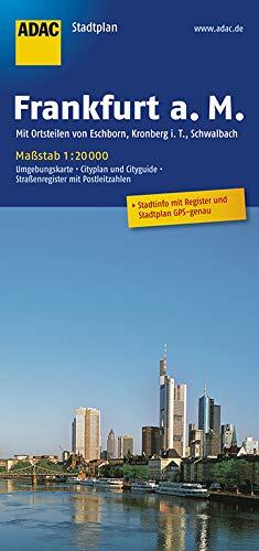 ADAC StadtPlan Frankfurt a.M. mit Ortsteilen von Eschborn, Kronberg i.T., Schwab: ach 1:20 000 (ADAC Stadtpläne)
