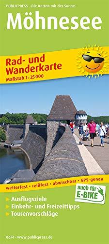 Möhnesee: Rad- und Wanderkarte mit Ausflugszielen, Einkehr- & Freizeittipps, wetterfest, reißfest, abwischbar, GPS-genau. 1:25000 (Rad- und Wanderkarte / RuWK)