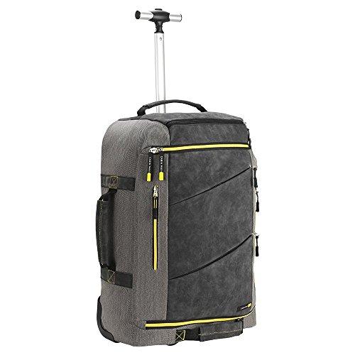 Cabin Max Manhatten Premium Hybrid Rollkoffer mit 44 Liter Volumen 55 x 40 x 20 cm Organisationsfach Brustgurt Rucksack Trolley mit Reißverschluss Handgepäck Koffer 2 Rollen