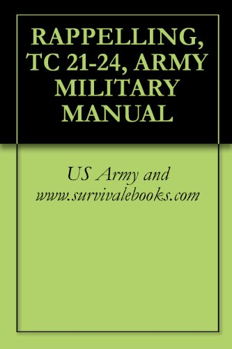 RAPPELLING, TC 21-24, ARMY MILITARY MANUAL (English Edition)