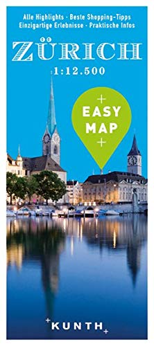 EASY MAP Europa ZÜRICH: 1:12500 (KUNTH EASY MAP / Reisekarten)