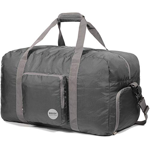 Faltbare Reisetasche 60L, Superleichte Reisetasche für Gepäck Sport Fitness Wasserdichtes Nylon von WANDF
