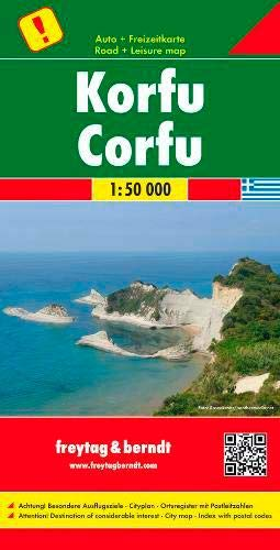 Korfu, Autokarte 1:50 000, Freytag Berndt Autokarten