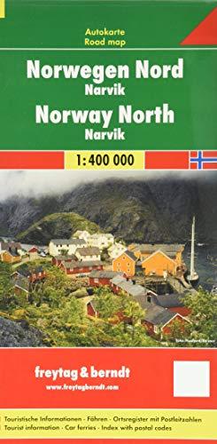 Norwegen Nord - Narvik, Autokarte 1:400.000 (freytag & berndt Auto + Freizeitkarten)