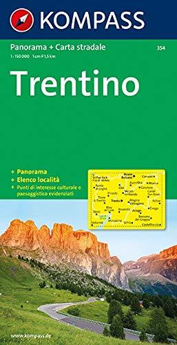 Kompass Panorama-Karten, Trentino