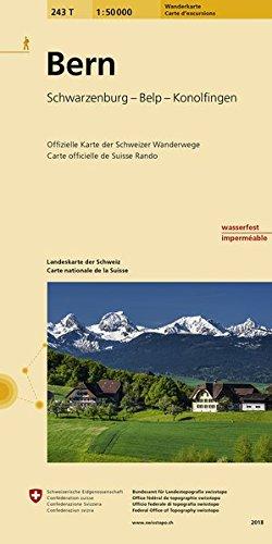 243T Bern Wanderkarte: Schwarzenburg Belp Konolfingen (Wanderkarten 1:50 000)