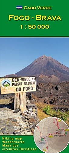 Cabo Verde: Fogo, Brava 1 : 50000: Wanderkarte