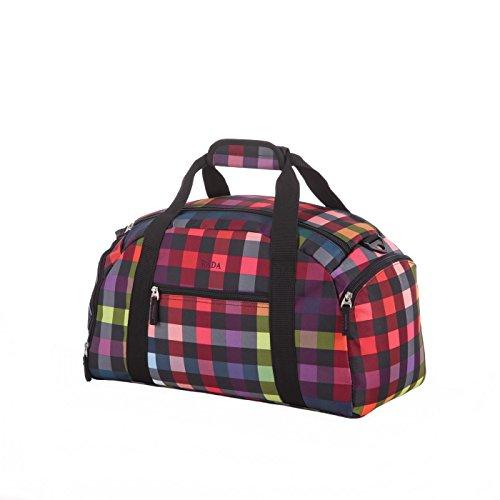 Rada Reisetasche Discover S 22 Liter Volumen, Wasserabweisende Sporttasche für Jungen und Mädchen, Reisetasche perfekt für den Kurzurlaub für Damen und Herren (Maße: 22x45,5x24cm) (multicolorcheck)