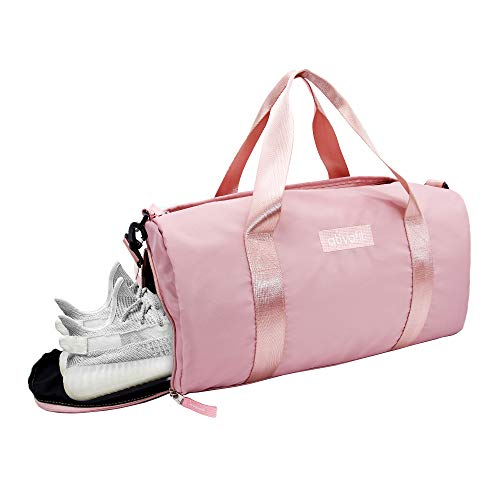 Ativafit Sporttasche Wasserdicht Reisetasche mit Schuhfach und Schultergurt 24 L Handgepäck für Übernachtung Reisen Sport Gym Urlaub Taschen/Sporttasche für Damen und Herren Rosa