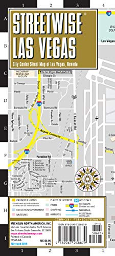Streetwise Map Las Vegas- Laminated City Center Street Map of Las Vegas: City Plans (Michelin Streetwise Maps)