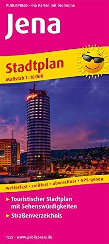 Jena: Touristischer Stadtplan mit Sehenswürdigkeiten und Straßenverzeichnis. 1:16000 (Stadtplan / SP)