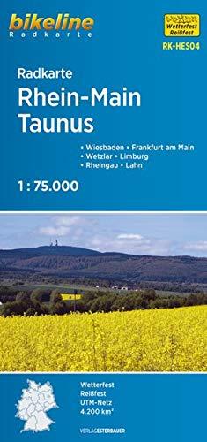 Radkarte Rhein-Main-Taunus (RK-HES04): Wiesbaden, Frankfurt am Main, Wetzlar, Limburg, Rheingau, Lahn 1:75.000, wetterfest/reißfest, GPS-tauglich mit UTM-Netz (Bikeline Radkarte)
