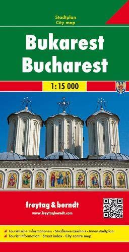 Freytag Berndt Stadtpläne, Bukarest - Maßstab 1:15000: City Map 1:25000