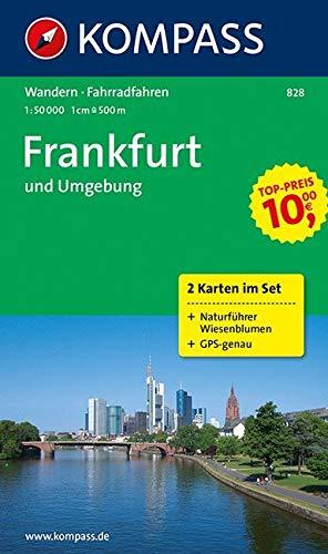 KOMPASS Wanderkarte Frankfurt und Umgebung: Wanderkarten-Set mit Radrouten und Naturführer. GPS-genau. 1:50000: 2-delige Wandelkaart 1:50 000 (KOMPASS-Wanderkarten, Band 828)