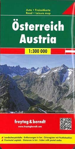 Österreich, Autokarte 1:300.000, Westfalzung: Wegenkaart 1:300 000 (freytag & berndt Auto + Freizeitkarten)