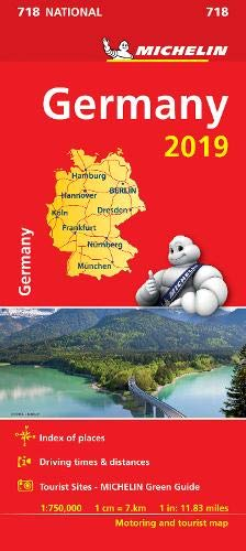 Germany 2019 - Michelin National Map 718 (Michelin National Maps)