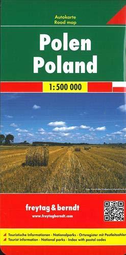 Polen, Autokarte 1:500.000: Wegenkaart 1:500 000 (freytag & berndt Auto + Freizeitkarten)