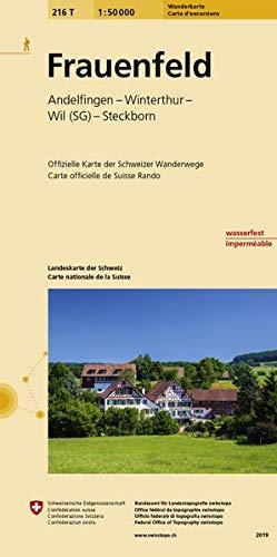 216T Frauenfeld Wanderkarte: Winterthur-Wil-Steckborn (Wanderkarten 1:50 000)