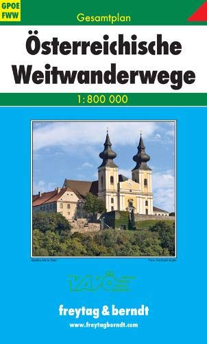 Gesamtplan: Österreichische Weitwanderwege 1 : 800 000 (freytag & berndt Wander-Rad-Freizeitkarten): Overzichtskaart 1:800 000