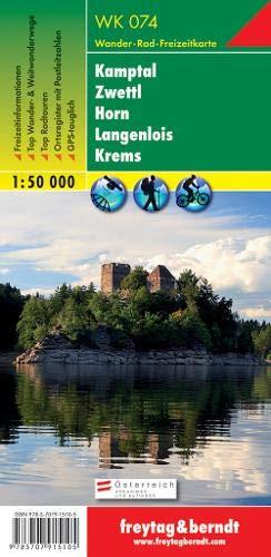 Kamptal - Zwettl - Horn - Langenlois - Krems, Wanderkarte 1:50.000, WK 074: Wandel- en fietskaart 1:50 000 (freytag & berndt Wander-Rad-Freizeitkarten)