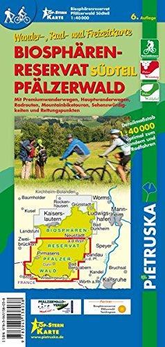 Biosphärenreservat Pfälzerwald Südteil: Wander-, Rad- und Freizeitkarte, 6. Auflage