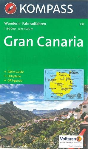 Kompass Karten, Gran Canaria: Wandelkaart 1:50 000 (KOMPASS-Wanderkarten, Band 237)