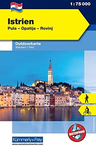 Istrien: Nr. 01, Outdoorkarte Kroatien, 1:75 000, Mit kostenlosem Download für Smartphone (Kümmerly+Frey Outdoorkarten Kroatien)
