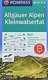 KOMPASS Wanderkarte Allgäuer Alpen, Kleinwalsertal: 5in1 Wanderkarte 1:50000 mit Panorama, Aktiv Guide und Detailkarten inklusive Karte zur offline ... Langlaufen. (KOMPASS-Wanderkarten, Band 3)