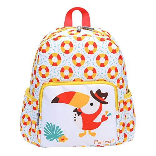Mitlfuny handbemalte Ledertasche, Schultertasche, Geschenk, Handgefertigte Tasche,Student Kinder Mädchen & Jungen Cartoon Tier Schultasche Familienreise Rucksack Tasche